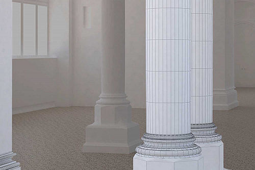 3D-CAD-Modellierung, Level of Detail LOD 250, Landesmuseum, HMQ AG