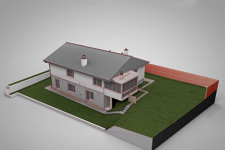 Einfamilienhaus referenzen bim f hige 3d modelle hmq ag for Einfamilienhaus modelle